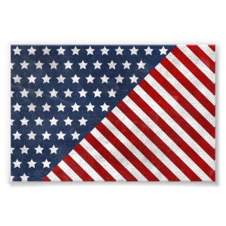 awesome USA flag grunge stars stripes american Photo Print