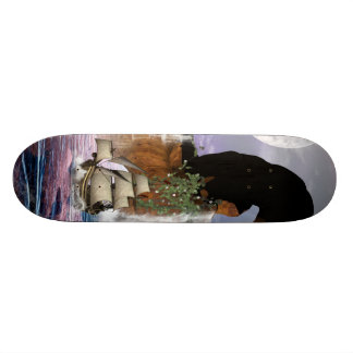 Awesome view over the ocean with ship custom skate board