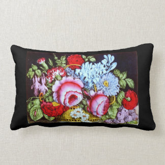Awesome Vintage Floral Display Colorful Design Throw Pillows
