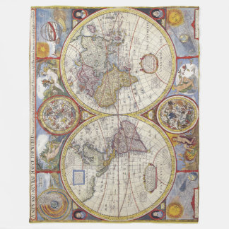 Old world map fleece blankets old world map blanket designs awesome vintage old world maps antique maps fleece blanket gumiabroncs Image collections