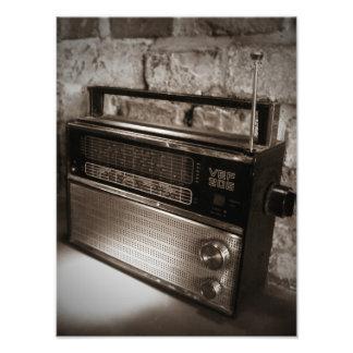 Awesome Vintage Radio Print Art Photo