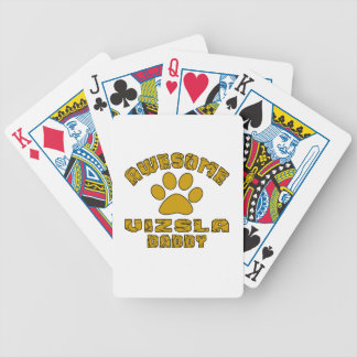 AWESOME VIZSLA DADDY BICYCLE PLAYING CARDS