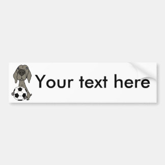 Awesome Weimaraner Dog Playing Soccer Bumper Sticker