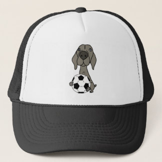Awesome Weimaraner Dog Playing Soccer Trucker Hat