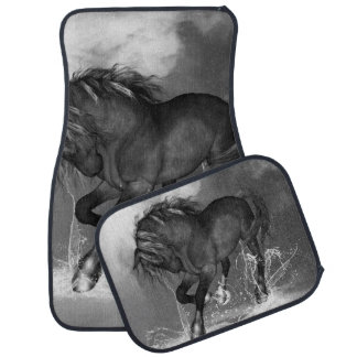 Awesome wild horse car mat