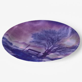 Awesome winter Impression B Paper Plate