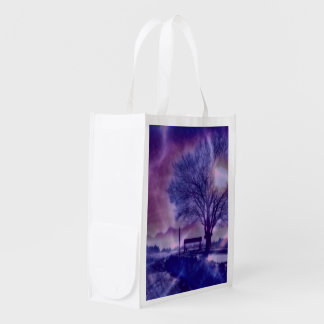 Awesome winter Impression B Reusable Grocery Bag