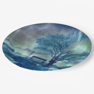 Awesome winter Impression Paper Plate