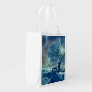 Awesome winter Impression Reusable Grocery Bag
