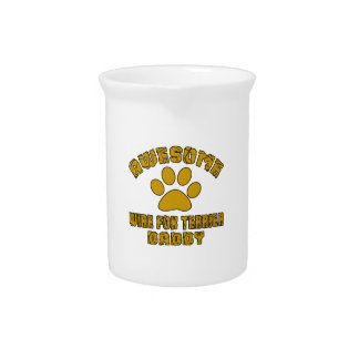 AWESOME WIRE FOX TERRIER DADDY BEVERAGE PITCHERS