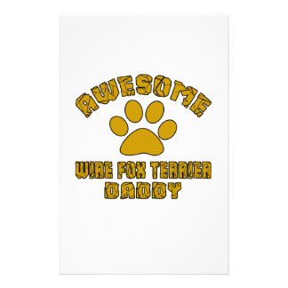 AWESOME WIRE FOX TERRIER DADDY STATIONERY DESIGN