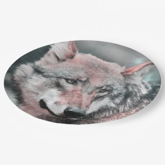 Awesome Wolf 9 Inch Paper Plate