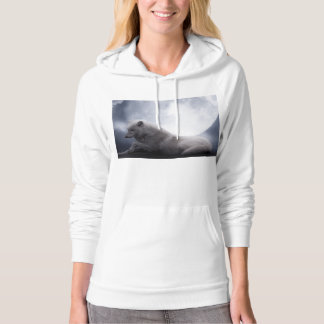 Awesome Wolf and Moon White Wolf Hoodie