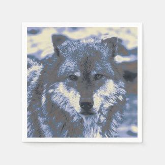 Awesome Wolf Disposable Napkins