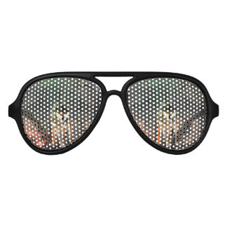 Awesome wolf on vintage background aviator sunglasses