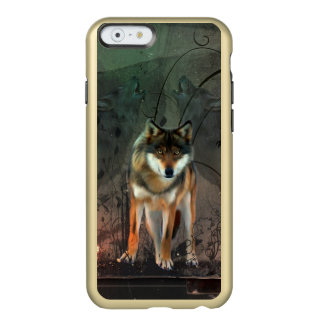 Awesome wolf on vintage background incipio feather® shine iPhone 6 case