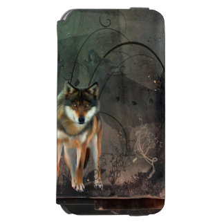 Awesome wolf on vintage background incipio watson™ iPhone 6 wallet case