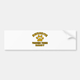 AWESOME YORKSHIRE TERRIER DADDY BUMPER STICKER