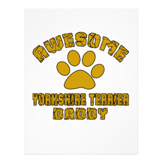 AWESOME YORKSHIRE TERRIER DADDY PERSONALIZED LETTERHEAD