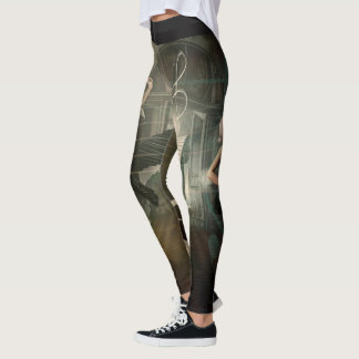 Awesomely Cool Violin & Piano Keys Leggings