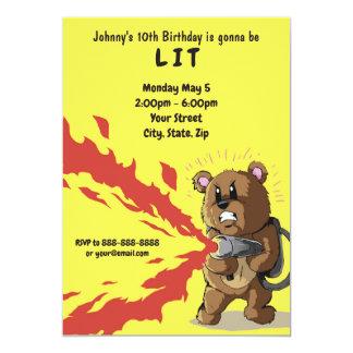 Awesomely Lit Birthday Invitation