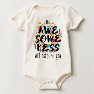 Awesomeness (Black Text) Baby Bodysuit
