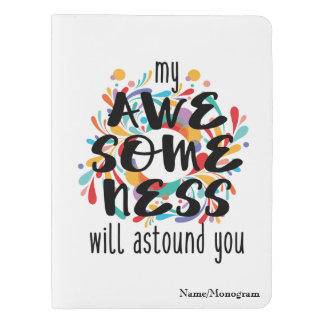Awesomeness (Black Text)-Choose Background Color Extra Large Moleskine Notebook