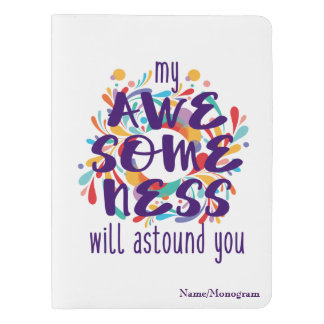 Awesomeness (Purple)-Choose Background Color Extra Large Moleskine Notebook