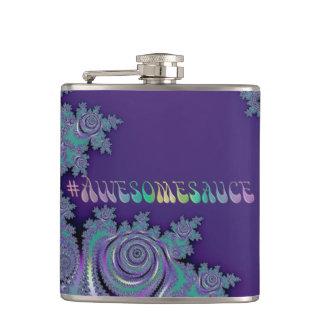 #Awesomesauce Violet Purple Fractal Hip Flask