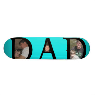 Awesomest Dad Fathers Day Add Your Pictures Logo Skate Board