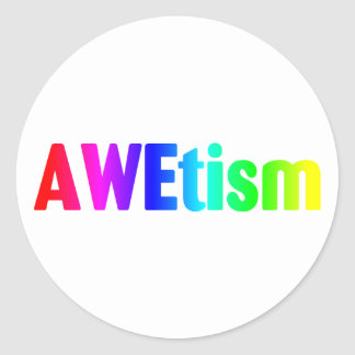 AWEtism Classic Round Sticker