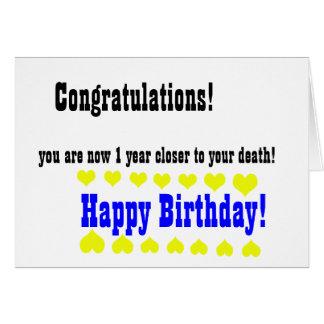 Awful funny Happy Birthday card