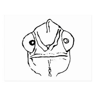 Awkward Chameleon Graphic Postcard