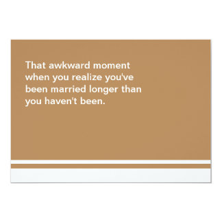 Awkward Moment Anniversary Card
