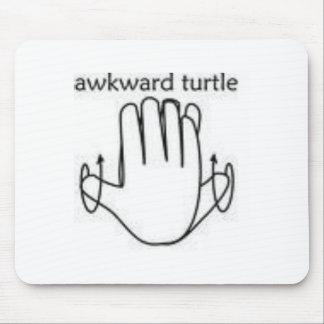 awkward turtle mouse pad