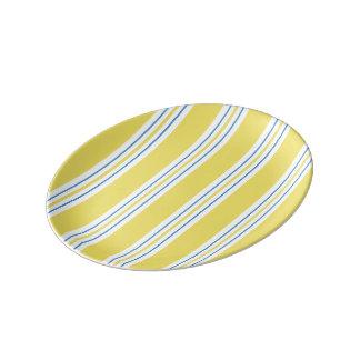 Awning Stripe - yellow Porcelain Plates