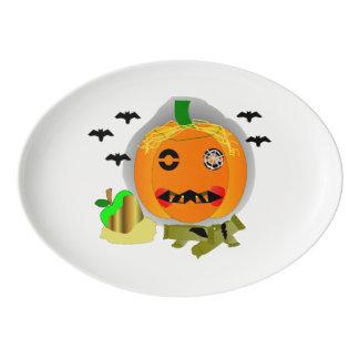 Awphul Jack-o-lantern Porcelain Serving Platter