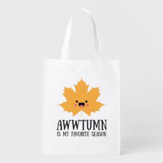 Awwtumn is my Favorite Season | Reusable Tote Market Tote