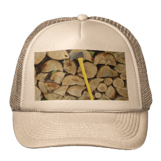Axe and Woodpile Trucker Hat