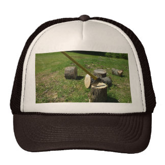 Axe in Wood Trucker Hat
