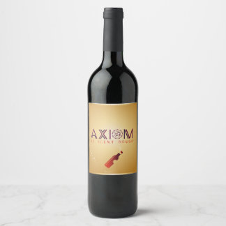 Axiom is Awasome which brings blossom in life Wine Label