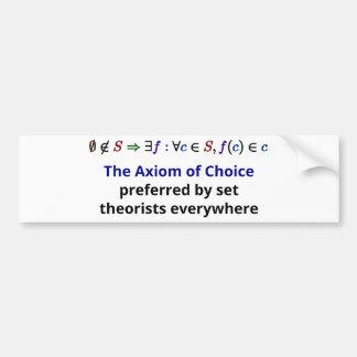 Axiom of Choice Bumper Sticker