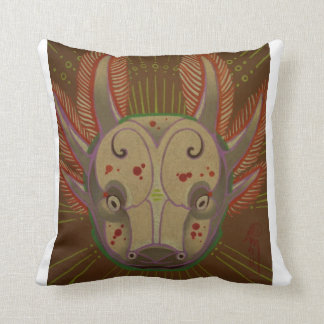 axolotl amphibian throw pillow