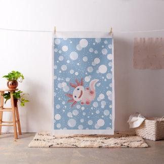 Axolotl and the Bubbles Bold Vector Design Fabric