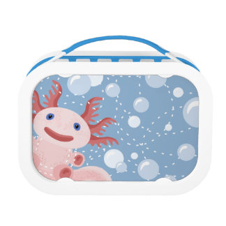 Axolotl and the Bubbles Bold Vector Design Lunch Box