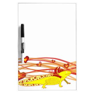 Axolotl gold Albino Dry Erase Board