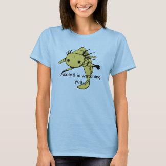 Axolotl is watching you...T Shirt (golden albino)