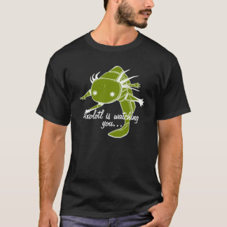 Axolotl is watching you...Wild type on dark bkg T-Shirt