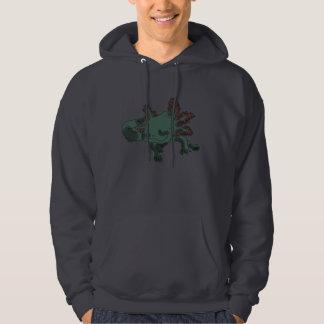 Axolotl print hoodie