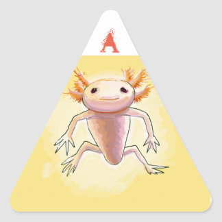 aXolotl Triangle Sticker